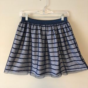 Tommy Hilfiger stripe skirt with polka dot overlay